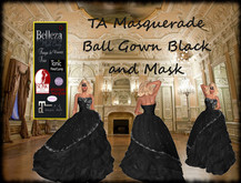 TA Masquerade Ball Gown Black