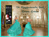 TA Masquerade Ball Gown Turquoise Green