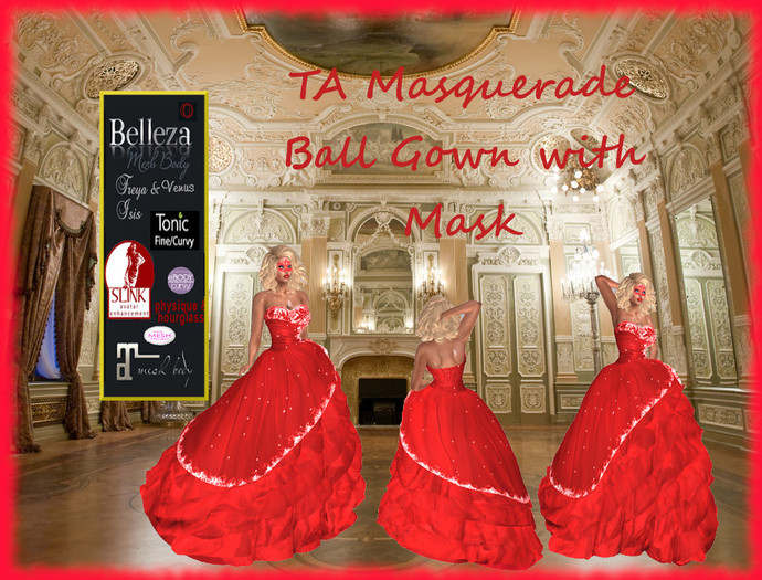 TA Masquerade Ball Gown Red