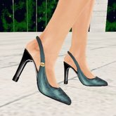 *VLC* Slingback Shoes - Teal Glitter