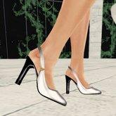 *VLC* Slingback Shoes - White