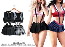 SCANDALIZE. SchoolGirl. Black