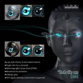 Multifunctional Mecha-like eyes (blue) ★ with afterglow effect of eye shine