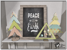 Peace on Earth Wooden Tree & Art Set