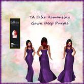 TA Ellie Romantika Gown Deep Purple