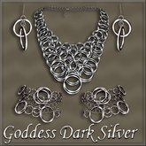 Goddess Dark Silver jewelry set