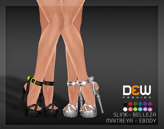 """""""DEW"""" Zig Heels /MAITREYA /SLINK /BELLEZA /EBODY"""
