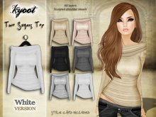 Kyoot - Two Sugars Top (White)