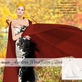 -slouch- Autumn Wind Satin Cloak (add)