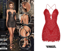 TETRA - Phoenix dress (Scarlet)