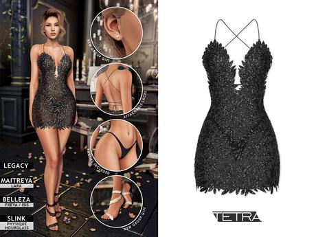 TETRA - Phoenix dress (Black)