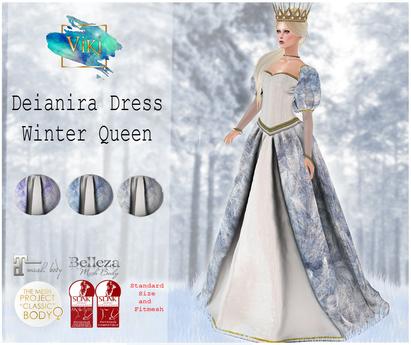 .Viki. Deianira Dress - Winter Queen