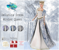 .Viki. Deianira Dress - Winter Queen