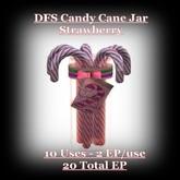 DFS Candy Cane Jar Strawberry