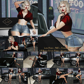 Lush Poses - 50's - female pose pack with props