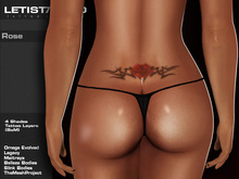 Letis Tattoo :: Rose :: Lower back Tattoo & Omega Legacy Maitreya and more Appliers