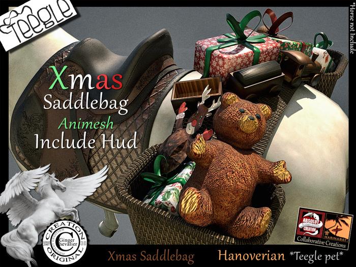 *.* Xmas SaddleBag Teegle Hanoverian