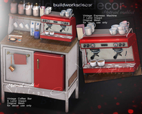 buildworksdecor ~ Vintage Coffee BAR Retro RED / FATPACK