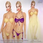 .:FlowerDreams:. Mira Lingerie Set 4 (yellow&plum)