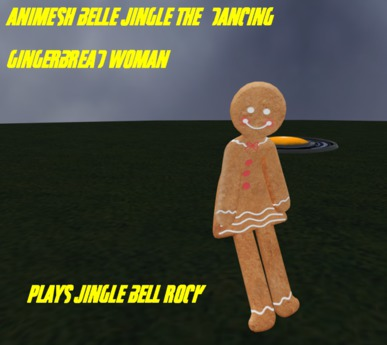 Bell Jingle gingerbread woman dancer