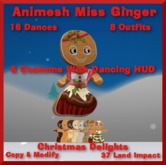 Animesh Miss Ginger, Costume & HUD, Bagged