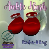 ~SWD~ Dinkie ~Ankle Hush Shoes~ Red-n-Bling []