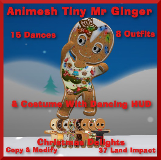 Animesh Tiny Mr Ginger, Costume & HUD, Bagged