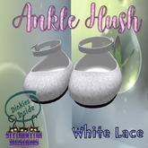 ~SWD~ Dinkie ~Ankle Hush Shoes~ White Lace []