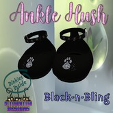 ~SWD~ Dinkie ~Ankle Hush Shoes~ Black-n-Bling []
