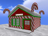 RE Candy Shop w/Snow Roof - Christmas Decoration/Candy Cane