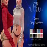 ello. Cece Crop Sweater