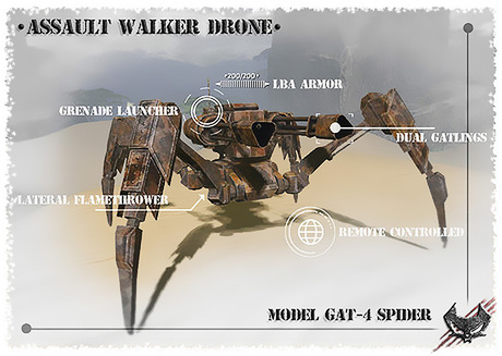 [IX-V] Assault Walker Drone [Remote Controlled]