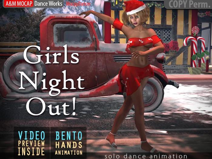 A&M: Girls Night Out - dance animation (Bento) :: #TAGS - Jingle Bells Rock, Mean Girls, Christmas, Santa