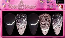 Rose Water-Black Boho Nails