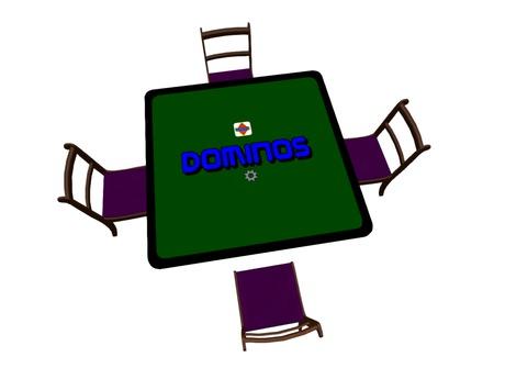 Dominoes Board Game - Original Brock table