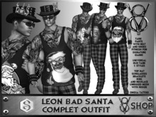 +V8 SHOP+ LEON BAD SANTA STYLE COMPLET OUTFIT SIGNATURE +DEMO