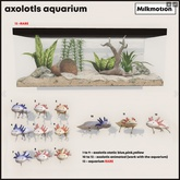 (Milk Motion) Axolotls aquarium - pink animated