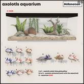 (Milk Motion) Axolotls aquarium - yellow animated