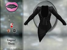 :-:SUGAR:-: Legend Dress {BLACK} for TMP Legacy, Maitreya, Slink, Belleza
