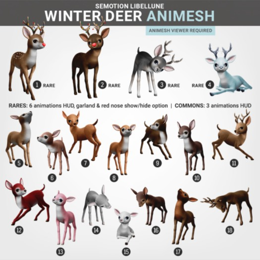 SEmotion Libellune Winter Deer Animesh #17