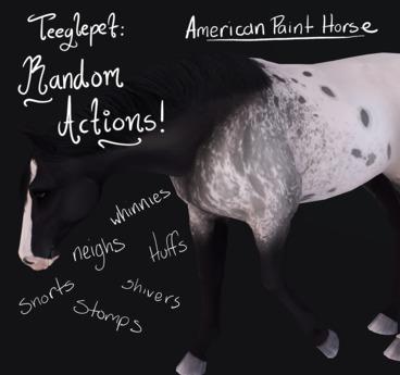 ~Mythril~ Teeglepet: Random Actions: American Paint