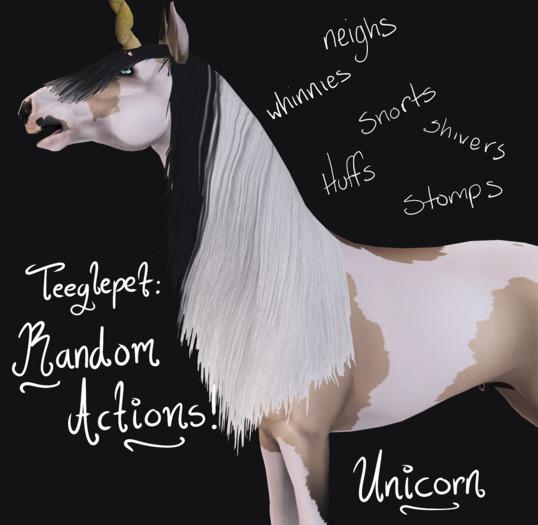 ~Mythril~ Teeglepet: Random Actions: Unicorn