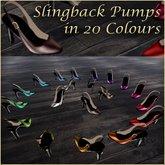 *VLC* Slingback Pumps - 20 Colours