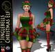 99L$ PROMO***ArisArisB&W~Jinglebells Christmas Elf~COMPLETE OUTFIT