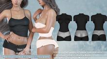 *Vanilla Bae* Hayley Shorts - 3 Pack - Strip Me Collection - Maitreya / Freya / Legacy / HG