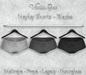 *Vanilla Bae* Hayley Shorts - Black 3 Pack - Strip Me Collection - Maitreya / Freya / Legacy / HG