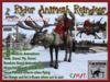 FaceDesk - Animated 2 person Rideable, Flyable, Roaming Animesh Reindeer!  Christmas, Holiday, Winter FUN!
