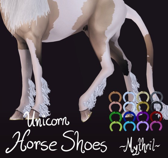 ~Mythril~ Unicorn Horse Shoes (Teeglepet Unicorn Only)