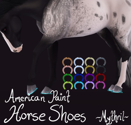 ~Mythril~ American Paint Horse Shoes (Teeglepet American Paint Only)
