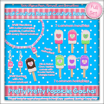 Kawaii Couture Pretty Pretty Popsicle Gacha Full Set Copy